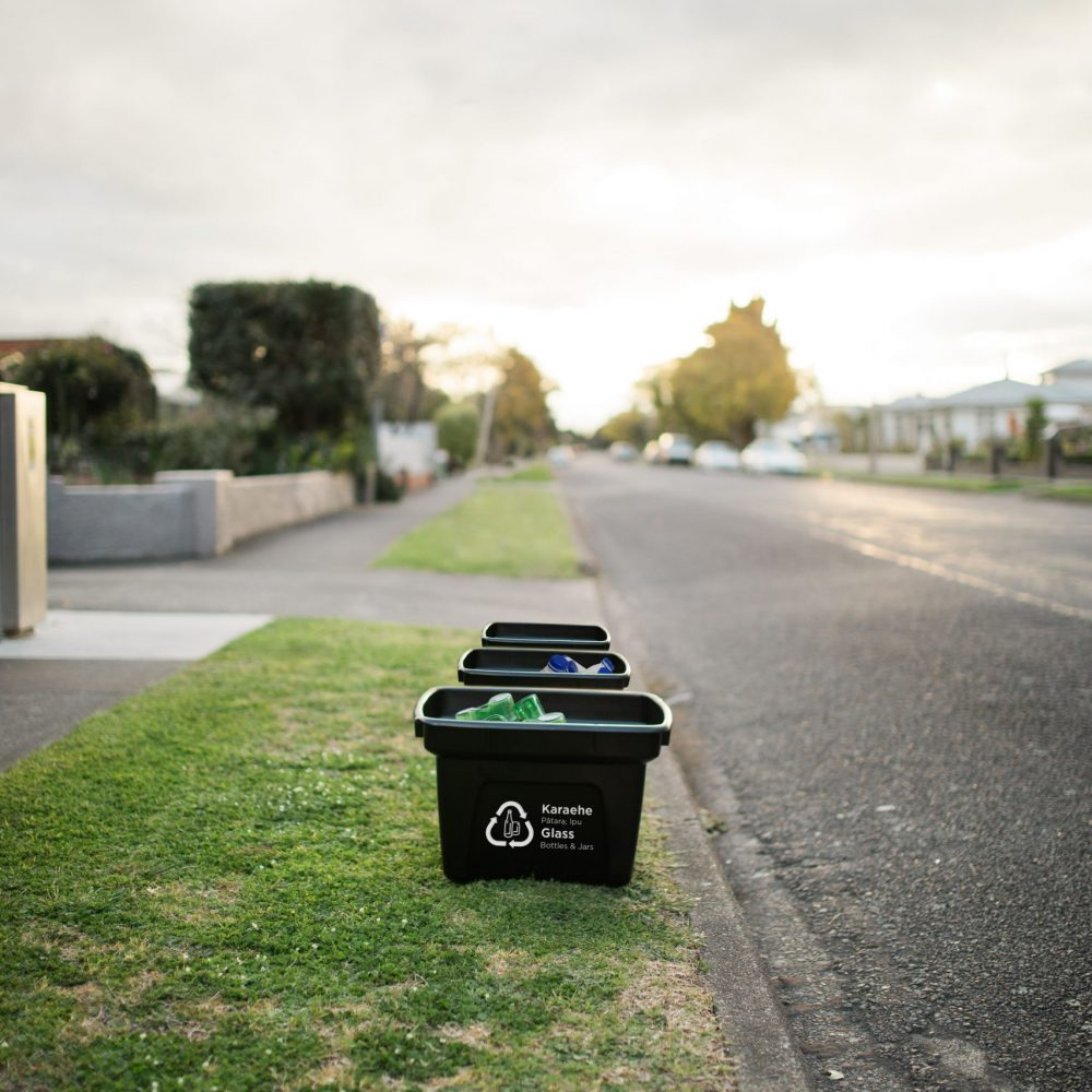 Glass separate crate in Napier (supplied by NCC)